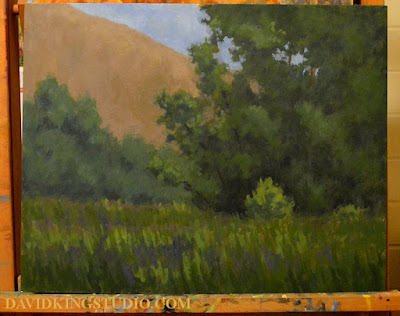 art painting landscape worshop acrylic nature green