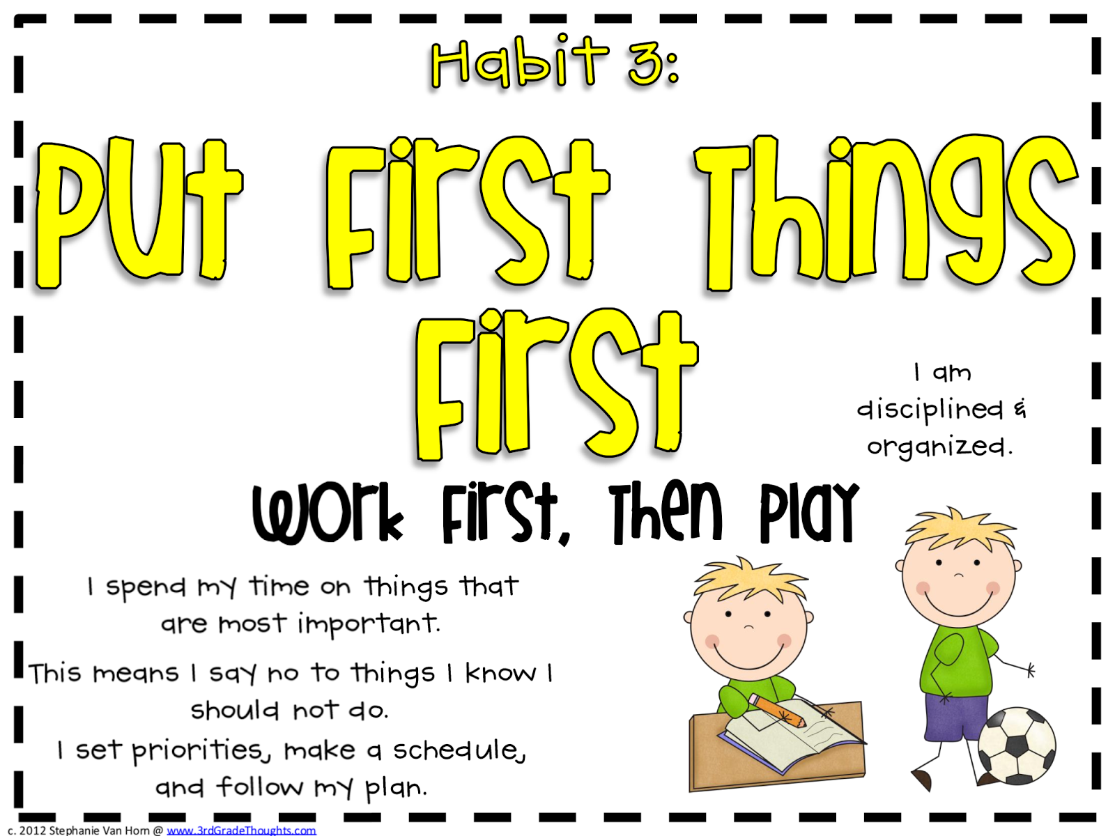 Mrs Hawthorne S Class Putting First Things First