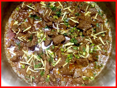 Brown Karahi Gosht Recipe