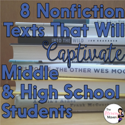 At any grade level, it is easy for English class to be solely a study of fictional literature, but students should be equally immersed in rich nonfiction as well. Here's nonfiction recommendations, many of them memoirs and biographies, that will captivate your middle and high school students.