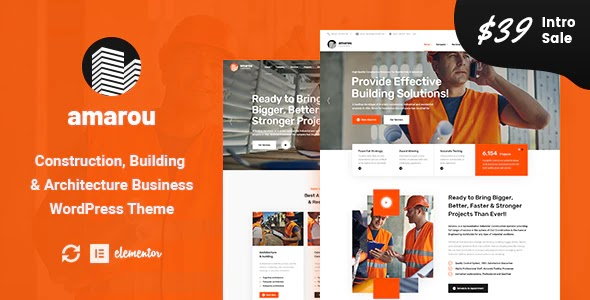 Construction & Architecture Website Theme