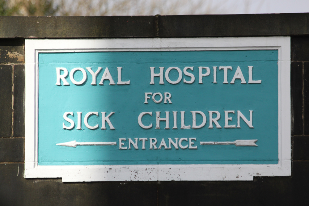Sairaalan kyltti