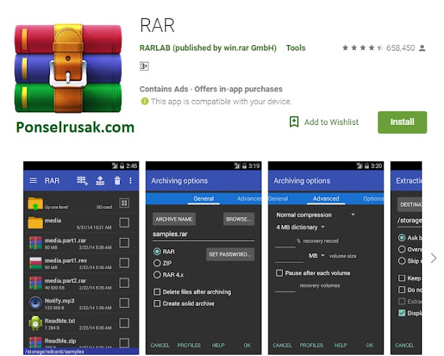 Aplikasi RAR Paling Bagus di Android