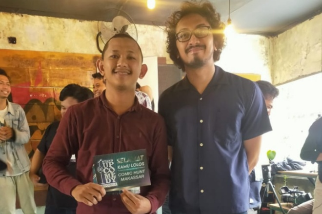 Wah, Peserta Asal Bone Dapat Silver Ticket Audisi Stand Up Comedy Kompas TV