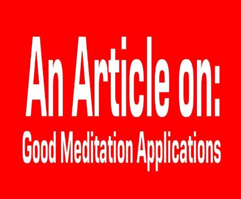 Good Meditation Application
