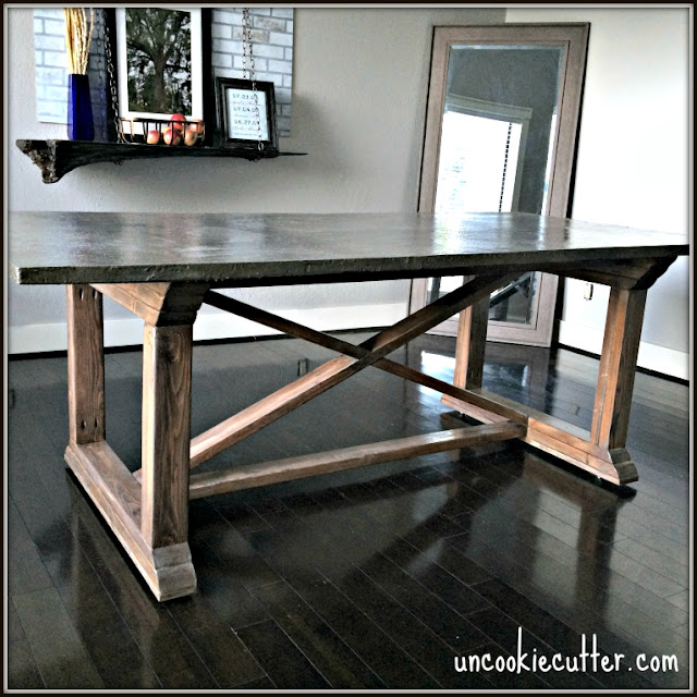 Restoration Hardware table knock off