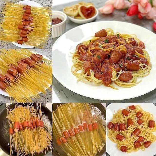 Resep Sajian Spaghetti Sosis Paling Menggiurkan