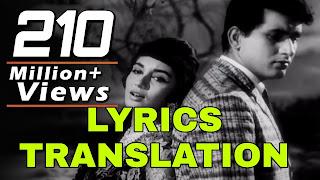 Lag Ja Gale Lyrics in English | With Translation | Wit - Lata Mangeshkar