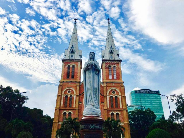 Notre-Dame Cathedral in Ho Chi Minh City Vietnam