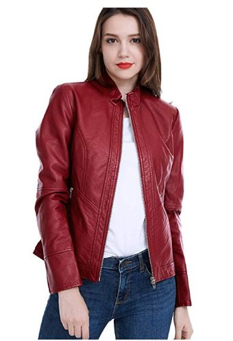 Fasbric Women's Faux Leather Jacket