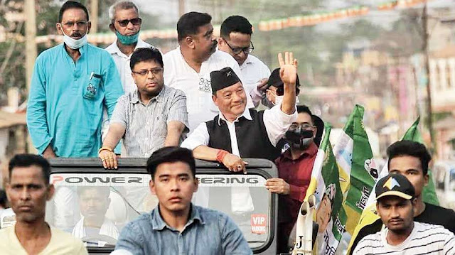 Bimal Gurung's campaign in south