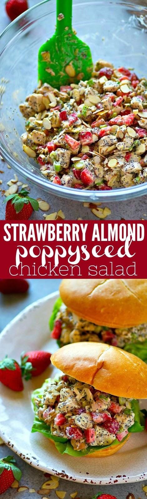 Strawberry Almond Poppyseed Chicken Salad