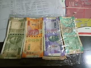 सट्टा लिखते सटोरिया पकड़ाया, नगद 16 हजार 800 रूपये जप्त