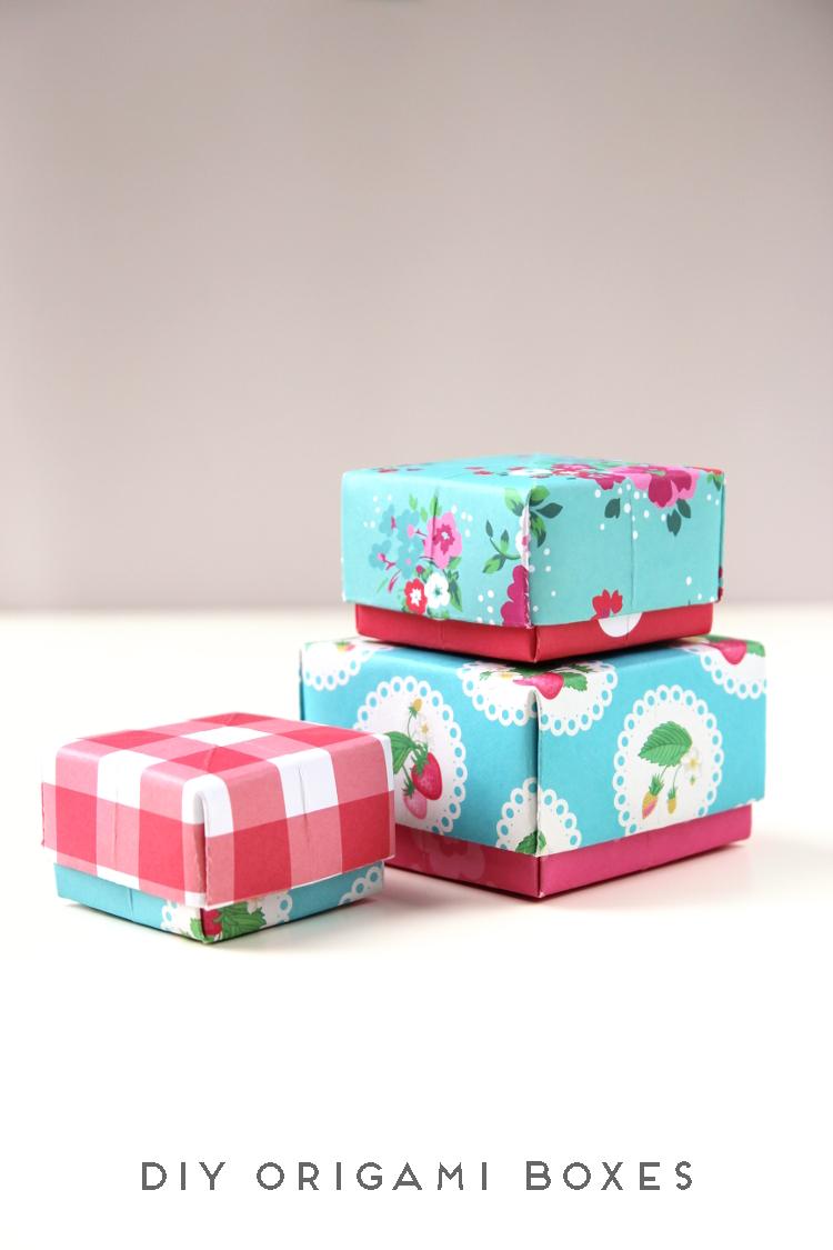 DIY ORIGAMI BOXES // Click through for video tutorial