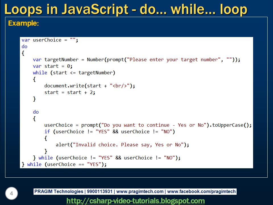 loop in javascript