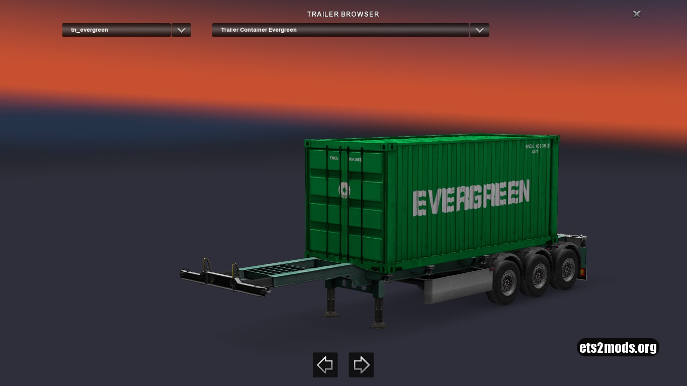 Container Evergreen Trailer