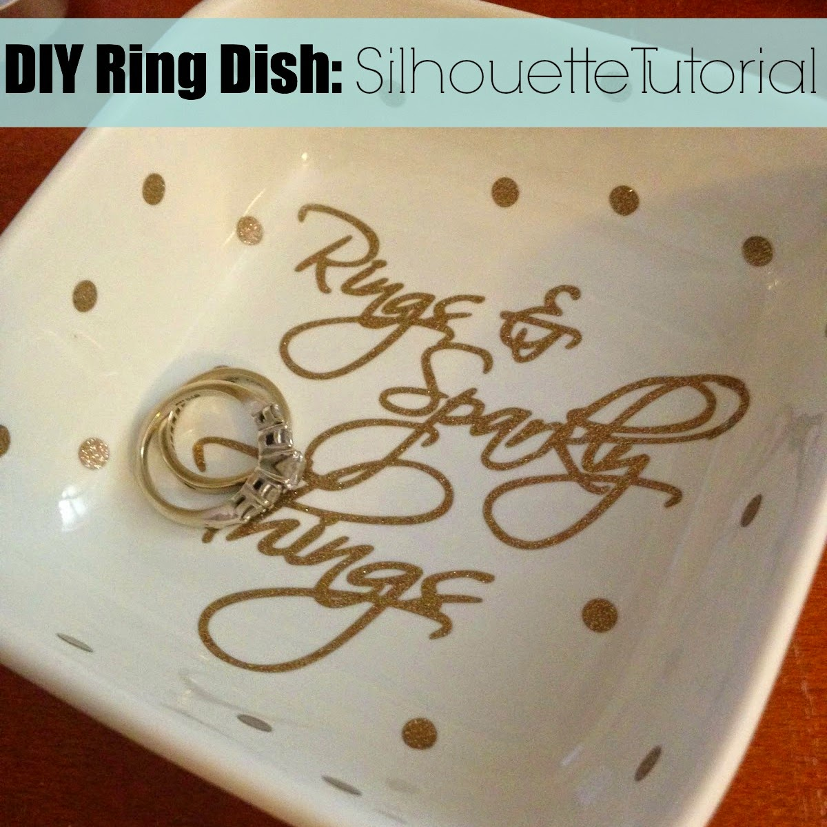 DIY, do it yourself, ring dish, Silhouette tutorial