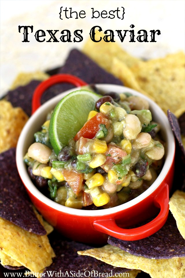Texas Caviar combines delicious fresh vegetables with an amazing Italian dressing...plus you get the added crunch of tortilla chips in the mix!