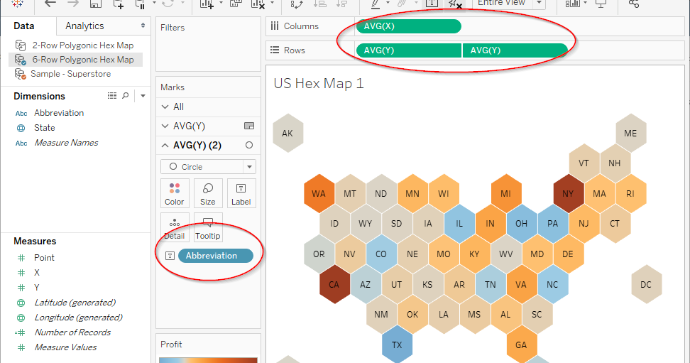 Vizible Difference: Polygon-based US Hex Map Revisited