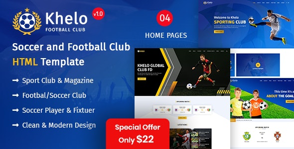 Khelo - Soccer & Football Club Responsive Template