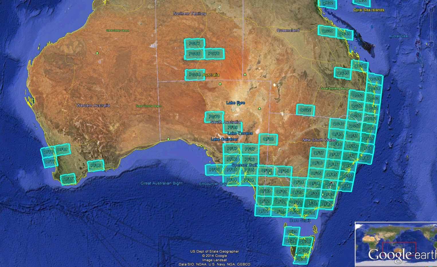 Australia Map Grid.Vk1di S Blog Log4om V1 18 And Grid Square Mapping In Google Earth