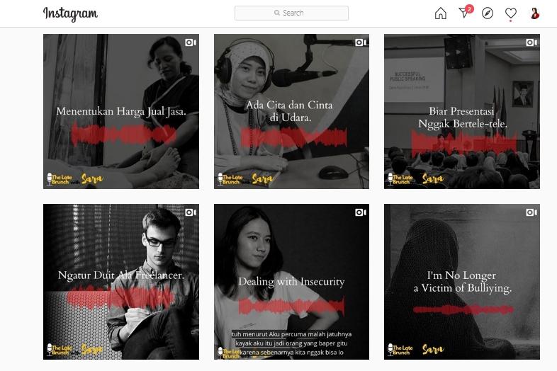 Membuat Audiogram Untuk Promosi Podcast Di Instagram Sara Neyrhiza Praktisi Komunikasi Dan Digital Content Creator