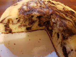 Bizcochuelo marmolado de chocolate