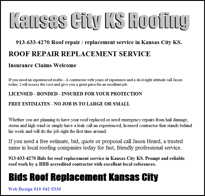 Kansas City Ks Roof Roof Restoration Replacement Prices