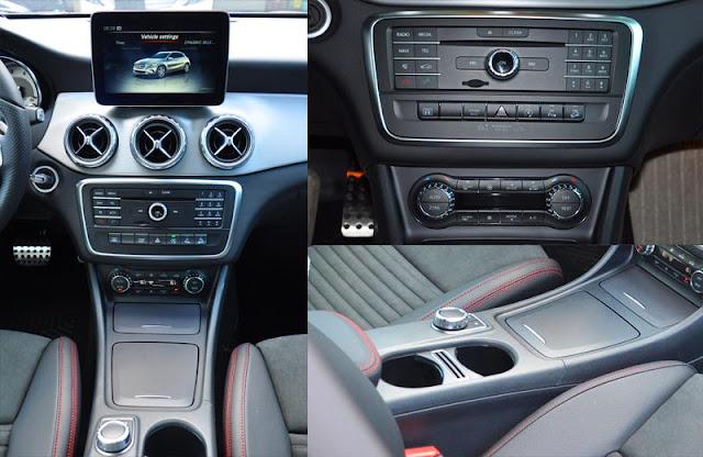Tựa tay Mercedes GLA 250 4MATIC 2017 được thiết kế nổi bật với rất nhiều tiện ích