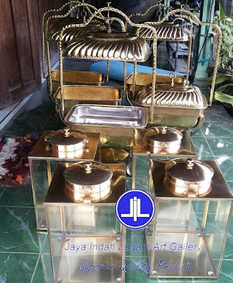 kerajinan tembaga dan kuningan Chafing dish Kotak dan Tempat Krupuk dari bahan kuningan