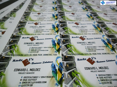 Business Cards for Andrei's E-Business Solutions