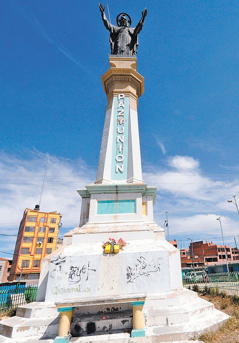 Monumento Sagrado Corazón de Jesús: Paz y unión (La Paz)