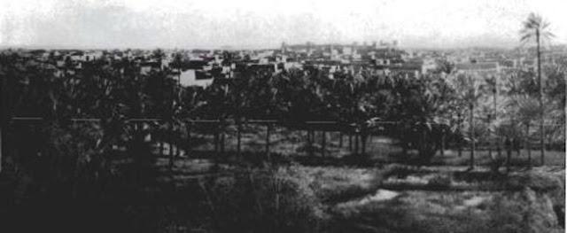 منظر عام لمدينة بريدة في القصيم 1914م