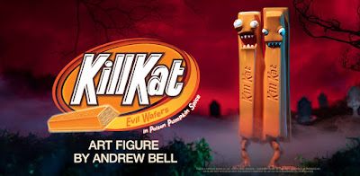 Kidrobot Exclusive Kill Kat Poison Pumpkin Spice Edition Vinyl Figure by Andrew Bell