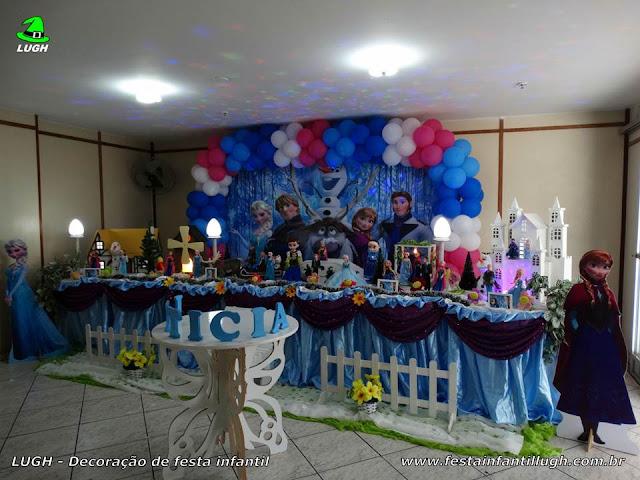 Decoração de aniversário Frozen - Tradicional luxo