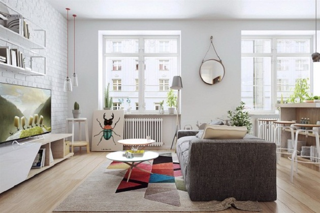 Apartment With Scandinavian Furniture And Nordic Decoration | Homesigner