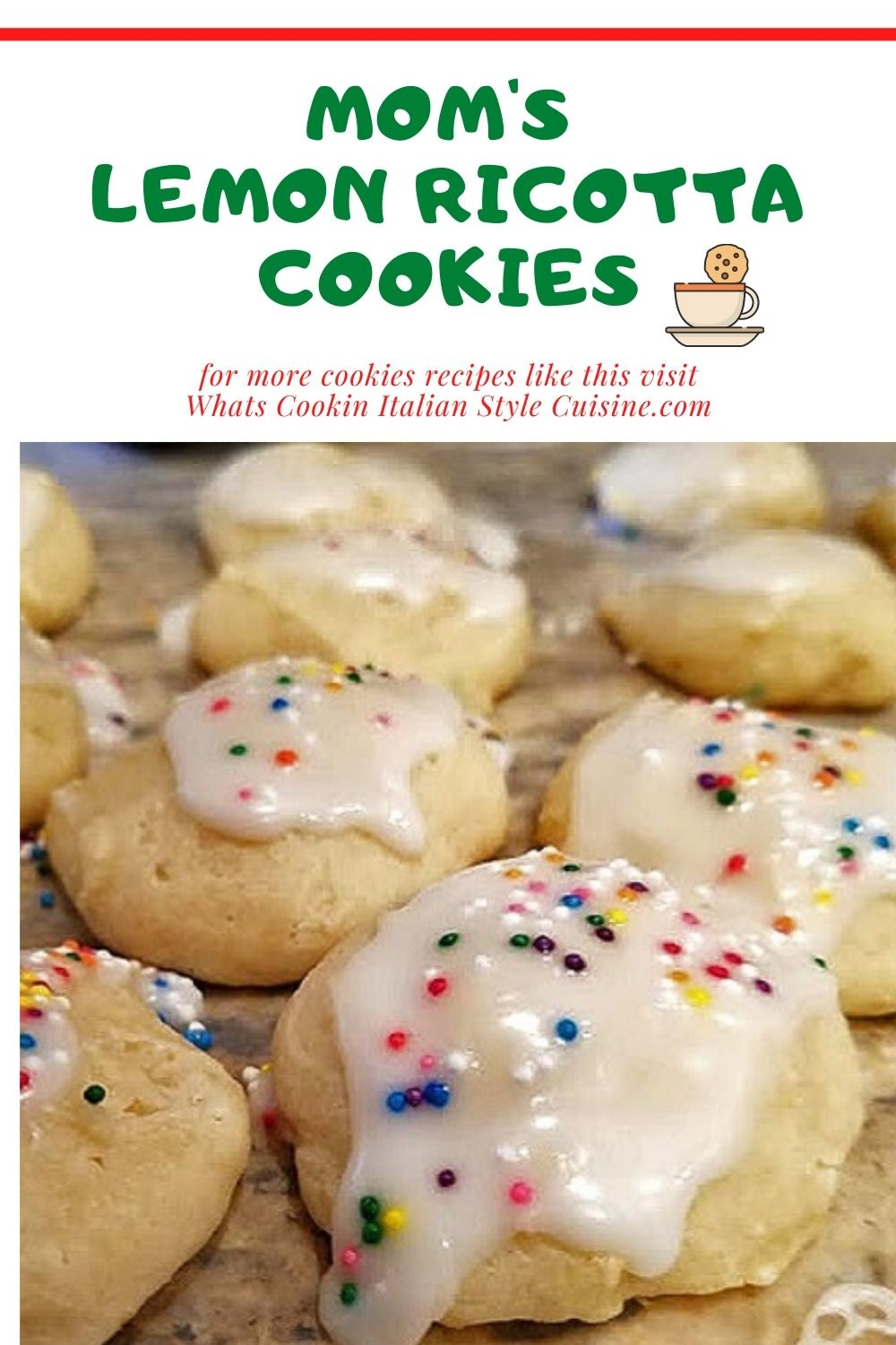 pin for later on how to make lemon ricotta cookies
