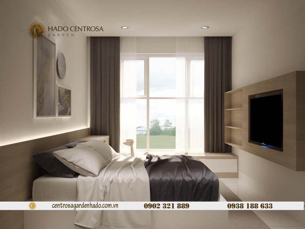 Căn hộ 1 phòng ngủ cho thuê HaDo Centrosa tầng cao | ảnh 3D 6