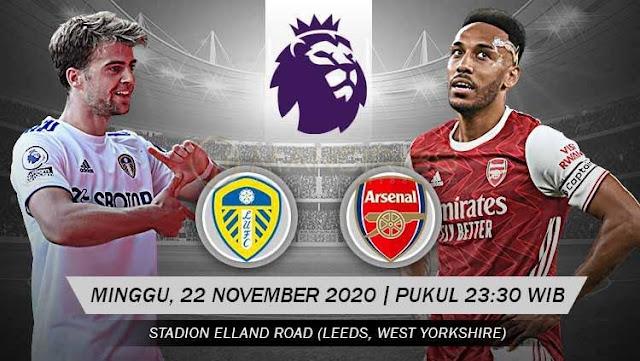 Prediksi Leeds United Vs Arsenal, Minggu 22 November 2020 Pukul 23.30 WIB @ Mola TV