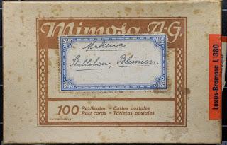 Alter Postkartenkarton - Mimosa AG - 1930-1945