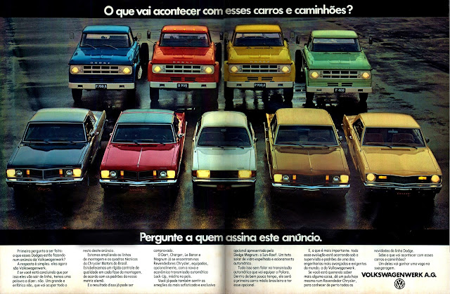 propaganda  Volkswagenwerk A.G. - Dodge - Chrysler - 1979