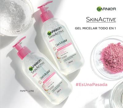 Gel Micelar Todo en 1 de la línea Skin Active de Garnier