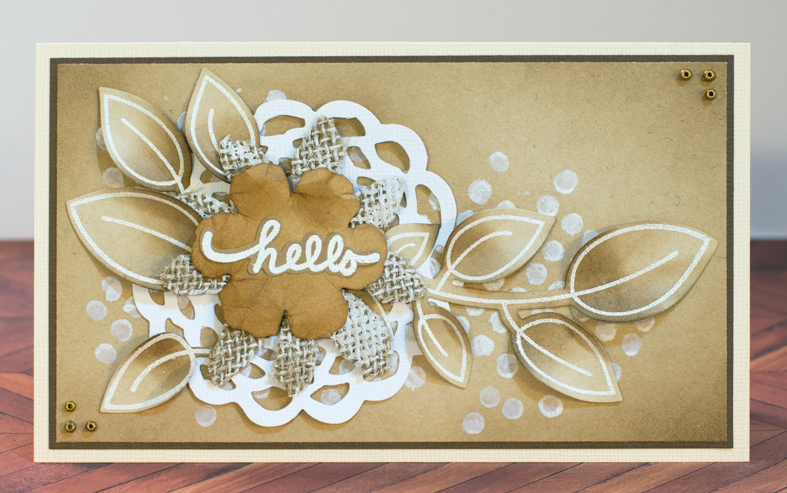 Cardmaking: Stamping with white