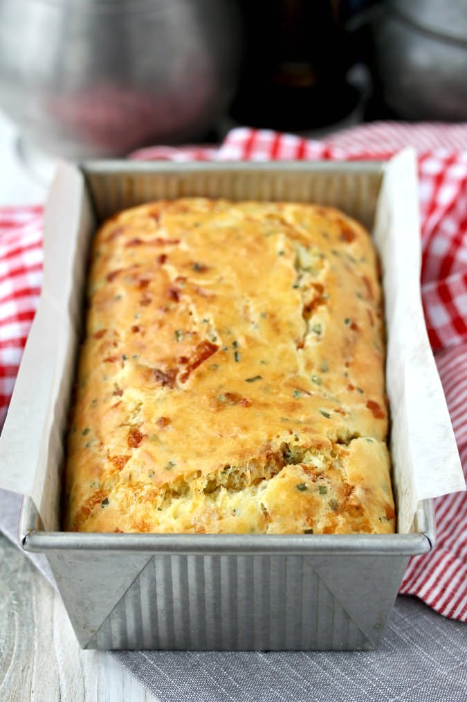 Cheddar Bacon Chive Quick Bread