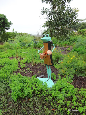 Cora the Gardening Frog, J.A. Cobb, Mounts Botanic Garden, FL
