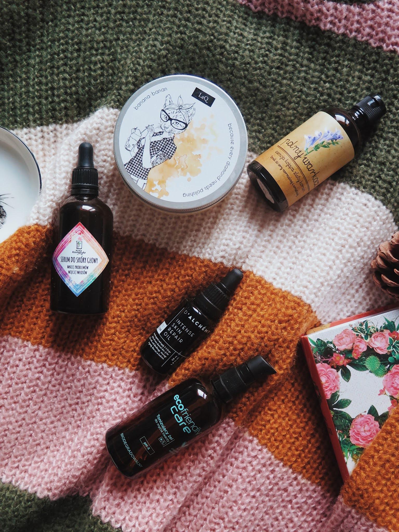 DENKO  Zużycia kosmetyczne z miesiąca - Miya, LaQ, Polny Warkocz