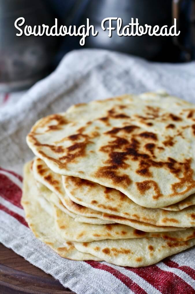 This sourdough Greek yogurt flatbread is so easy to make, and is wonderful for using your sourdough starter discard.