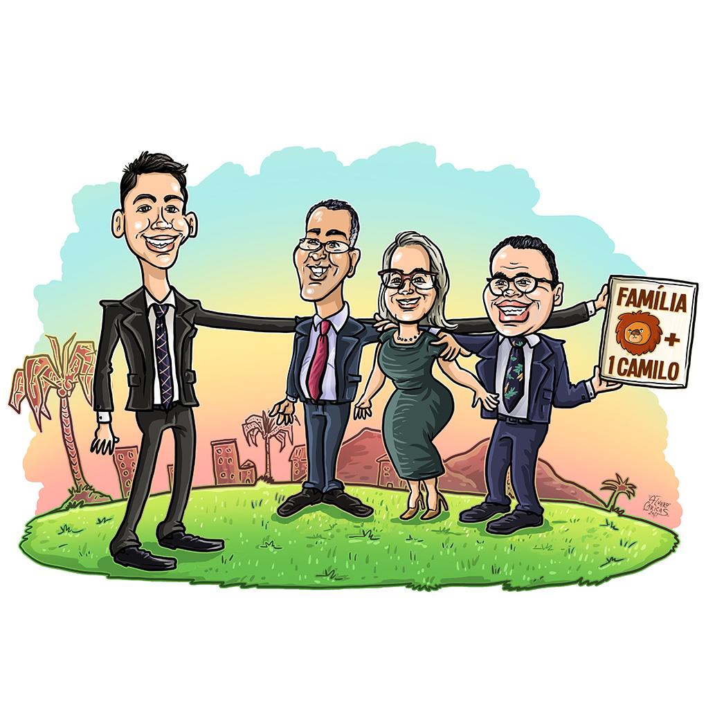 Caricatura Família de Goiás