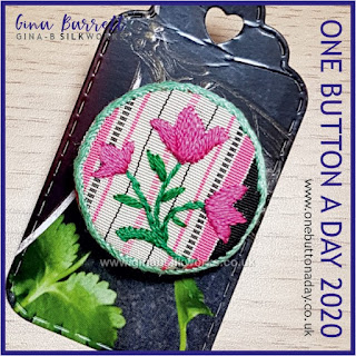 One Button a Day 2020 by Gina Barrett - Day 63: Tulip