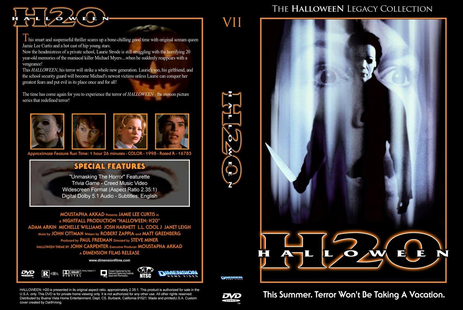 australian dvd cover - Halloween H20 Theme